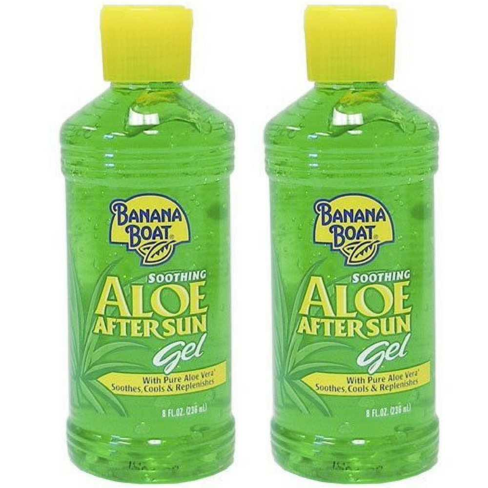 Banana Boat Soothing Aloe After Sun Gel 8 oz (Pack of 2)