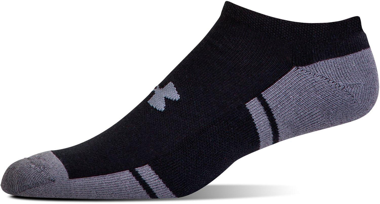 Gildan U290 Under Armour Boy Resistor 3.0 No Show Socks Youth Large White//Graphite Under Armour Socks