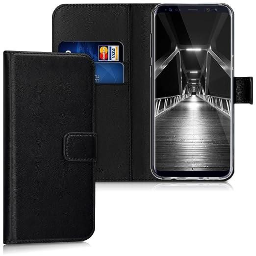 2 opinioni per kwmobile Custodia portafoglio per Samsung Galaxy S8 Plus- Cover a libro in simil
