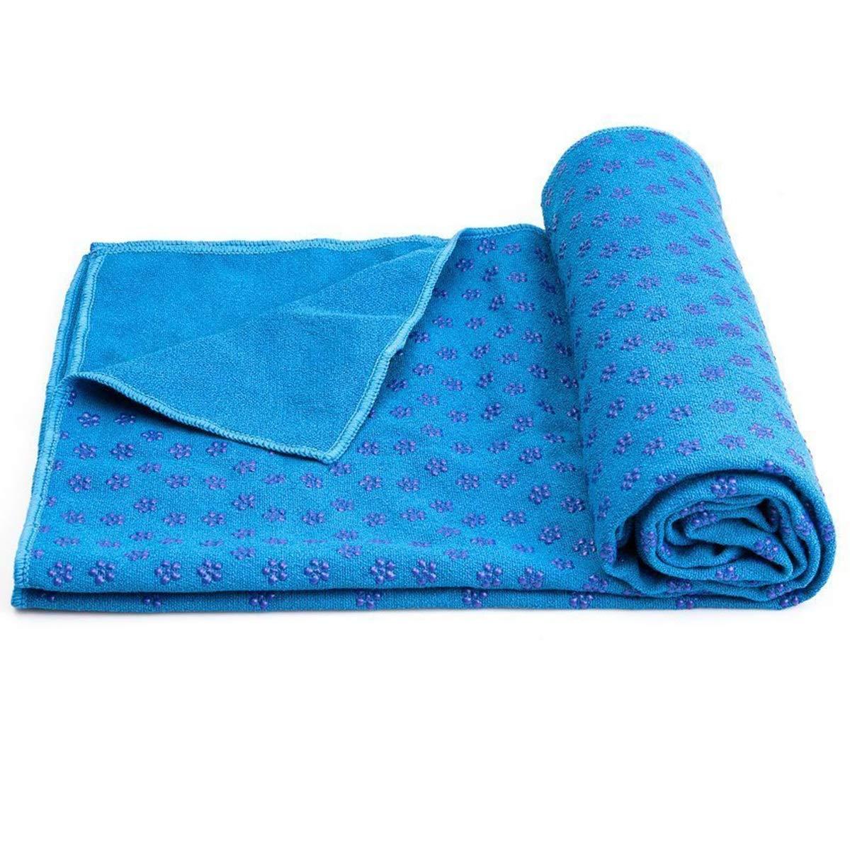 Yinroom Rutschfeste Yoga-Handtuch-Matte Handtuch , Mikrofaser Rutschfeste Yoga-Matte Abdeckung Handtü cher Schweiß absorbierendes und weiches Leichtgewicht 72 Zoll x 25 Zoll Grü n, Blau, Lila