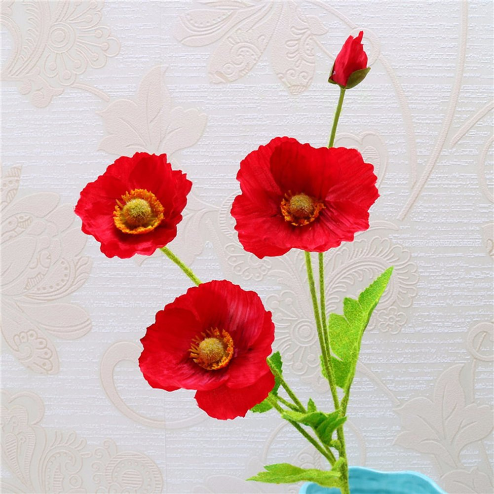 Amazon Tutuvi Real Touch Silk Corn Poppies Decorative Silk