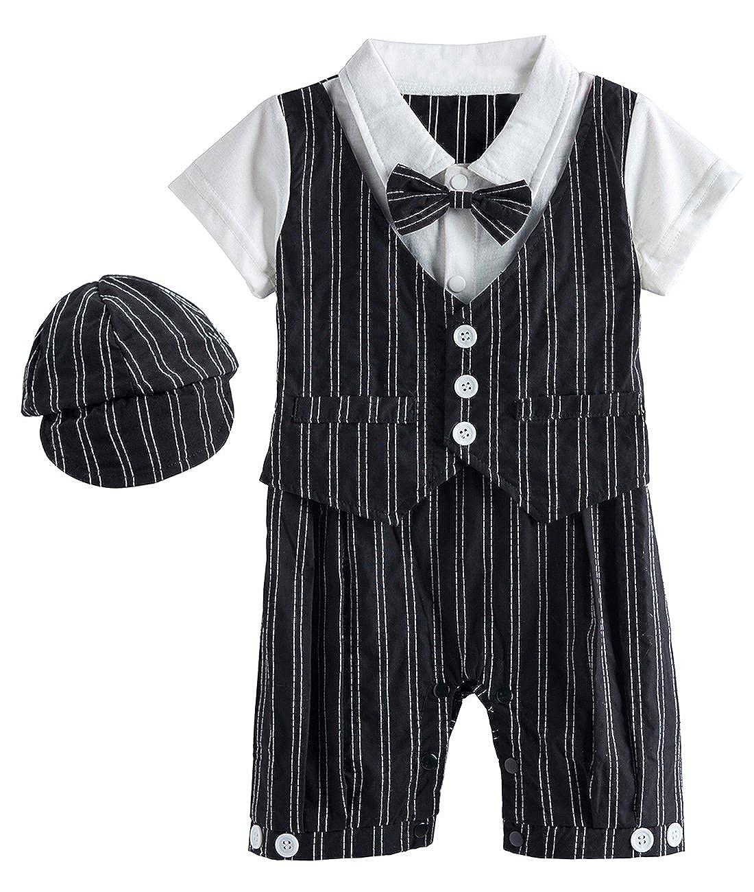 【ご予約品】 mombebe赤ちゃん男の子紳士ロンパーススーツセットwith Hat B01N5JRVRC and 6 Bow Tie B01N5JRVRC ブラック Months 3 - 6 Months 3 - 6 Months|ブラック, New me. (ニューミー):d662b823 --- svecha37.ru