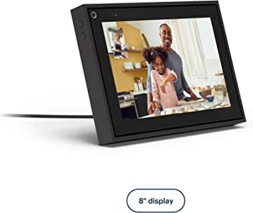 "Facebook Portal Mini - Smart Video Calling 8"" Touch Screen Display with Alexa - Black"