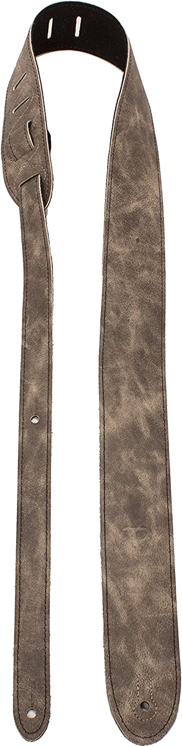 """Italian Garment Leather Guitar Strap Bass /& Electric Guitars High-End Deluxe Soft Leather Acoustic 2/"""" Wide /& Adjustable Almond Perris Leathers"""
