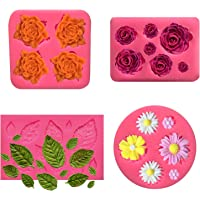 Gypsum Casting Mould 3D Silicone Chocolate Soap Cake 5 Floral Vintage Luxury Ornament Fondant Cupcake Clay Resin Wax Jelly Making Mold