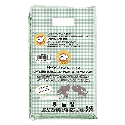 Super Toallitas Higiénicas De Entrenamiento Para Mascotas Clorexidina (60 x 60 cm / 15 pz