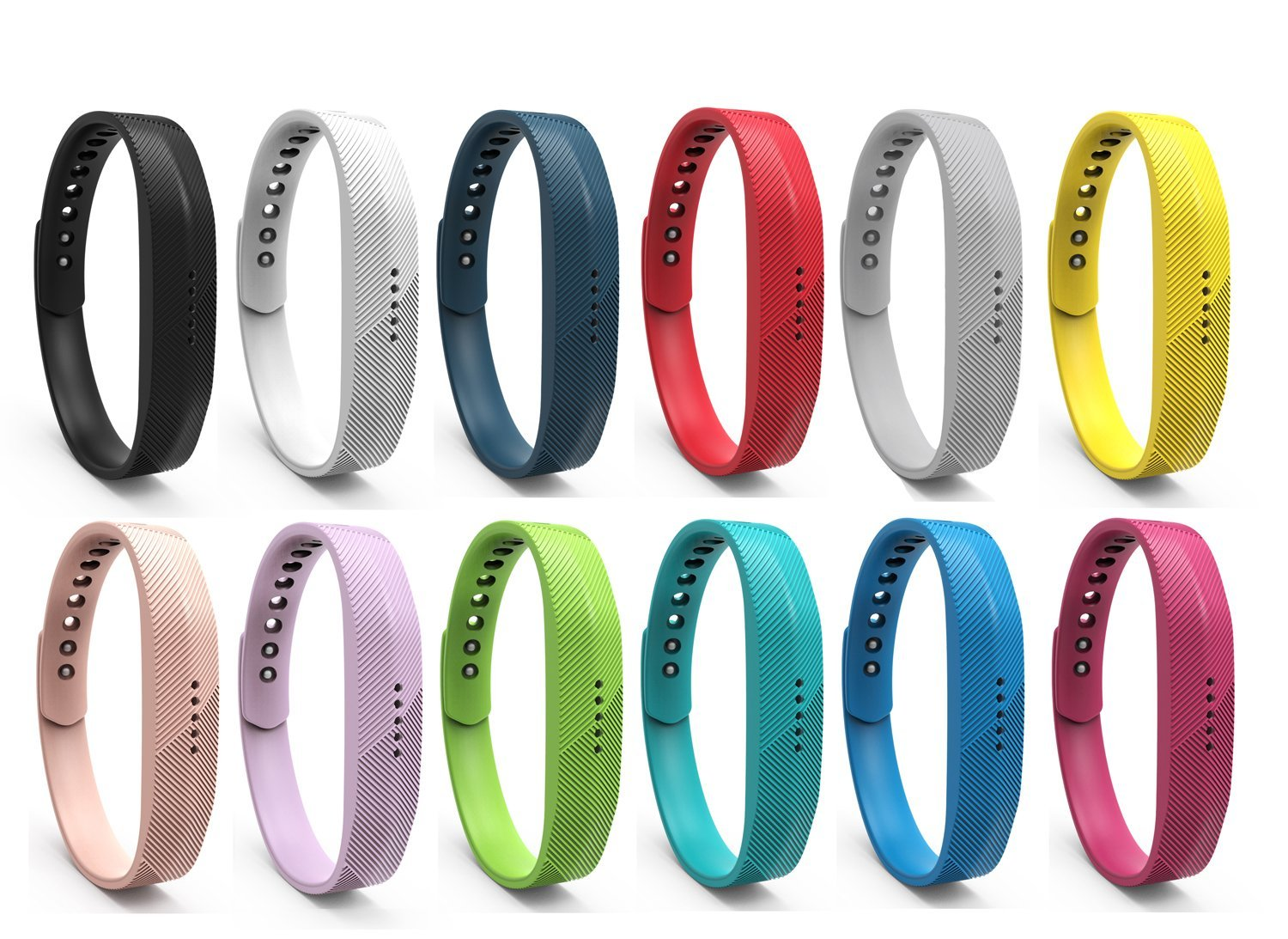 12 Colors Fitbit Flex 2 Band, BeneStellar Bracelet Strap Replacement Band for Fitbit Flex 2