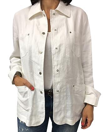 Veste femme en lin blanc