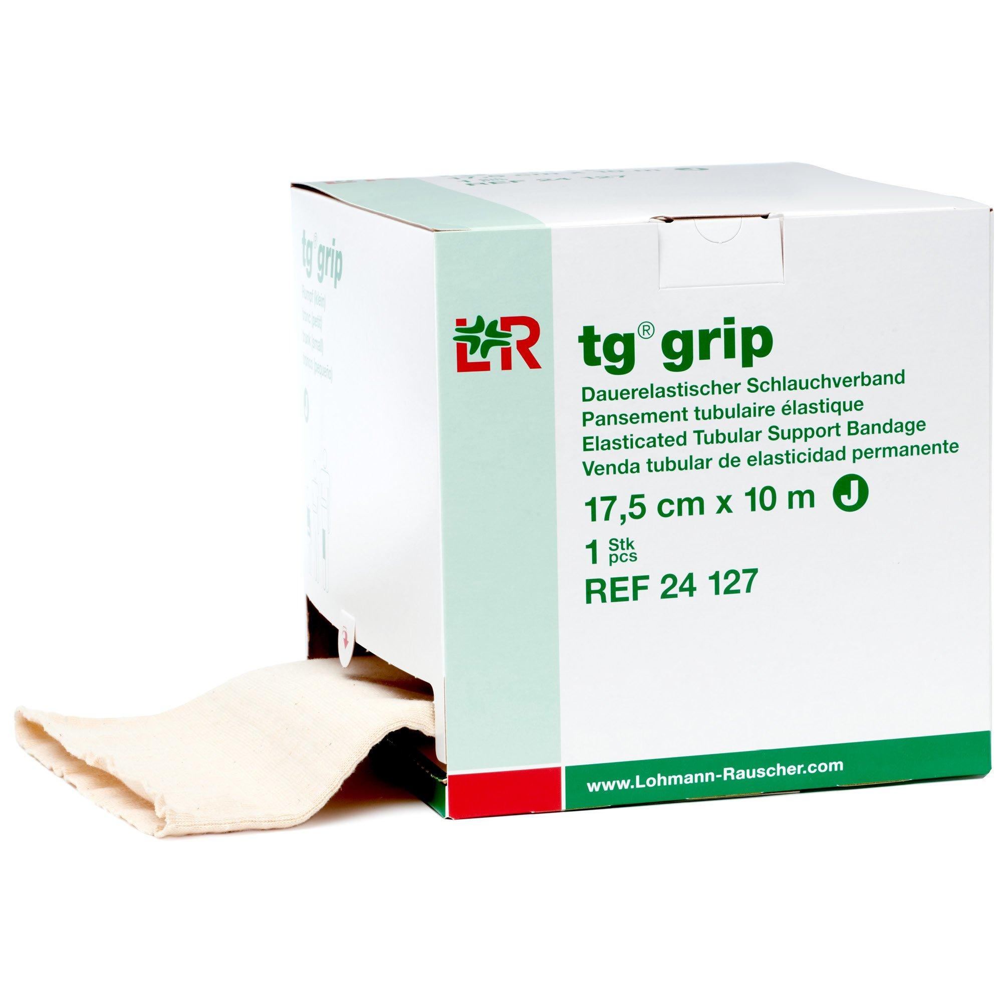 tg Grip Elastic Tubular Compression Bandage, Seamless Tube Stockinette Wrap for Retention, Lymphedema, Swelling, 85% Cotton, Washable & Reusable, Size J