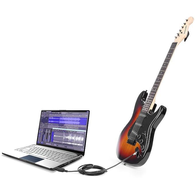 Neewer® Guitarra Bass a USB Cable de enlace de adaptador para PC/Mac Grabación: Amazon.es: Instrumentos musicales