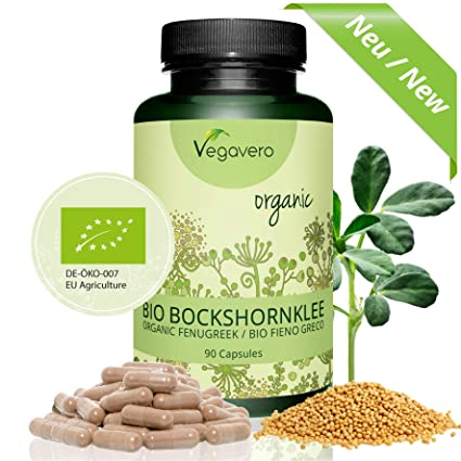 Fenogreco Orgánico 5000 mg | Sin Aditivos | PRODUCTO BIO | Testosterona + Estimulante + Masa