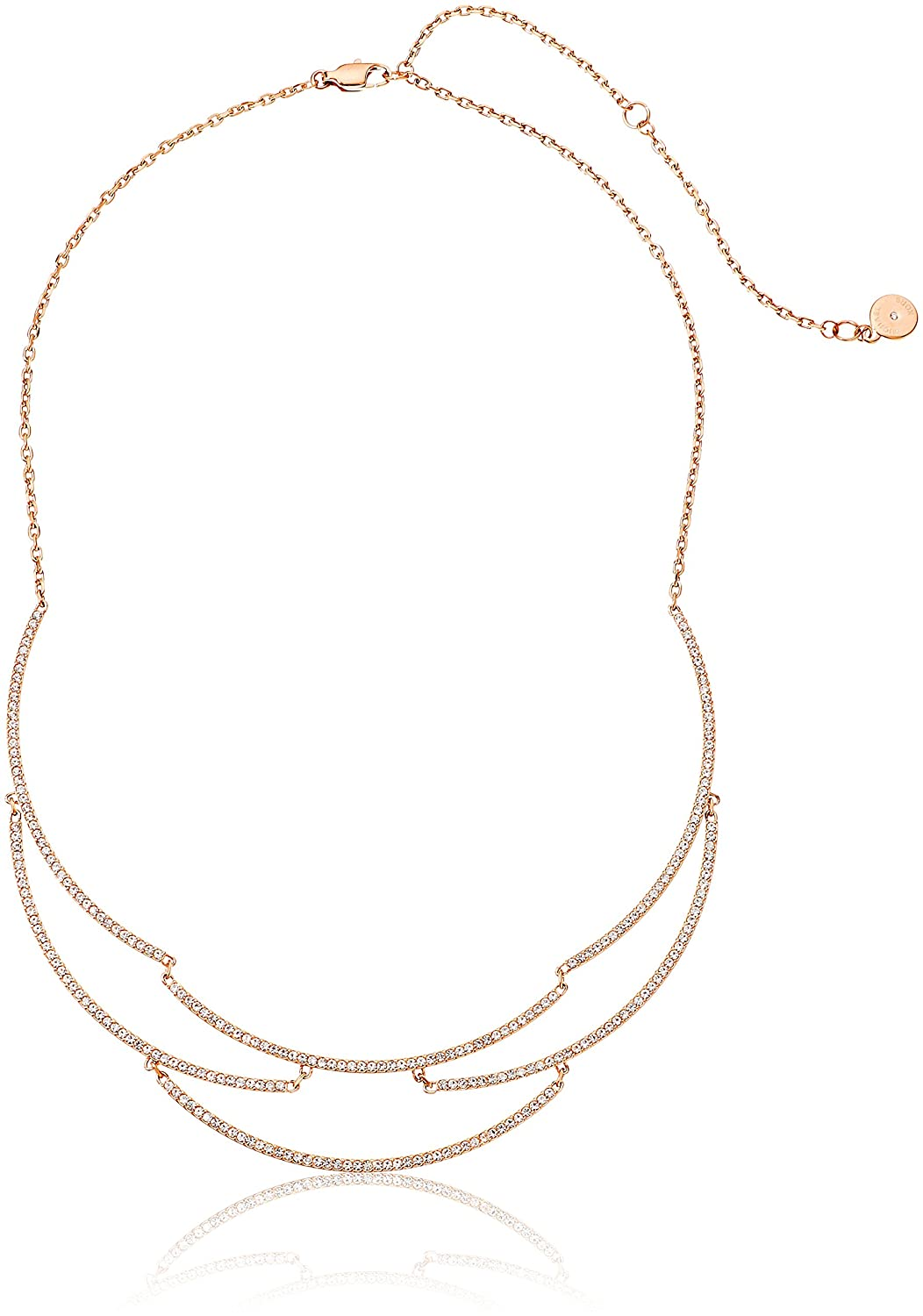 35e6d9f5006816 Amazon.com: Michael Kors Wanderlust Rose Gold-Tone Statement Necklace:  Jewelry