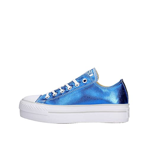 Converse Scarpe Sneakers ALL STAR CT PLATFORM OX Donna Blu 556789C BLU