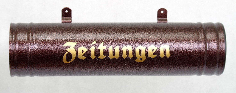 Farbauswahl Wetter Zeitungsrolle und UV-best/ändig Antic Kuppfer Zeitungsbox Neu