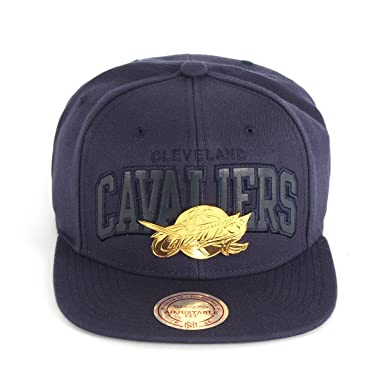 c0ef8a33aa8 Mitchell   Ness Men Caps Snapback Cap Lux Arch Cleveland Cavaliers Blue  Adjustable
