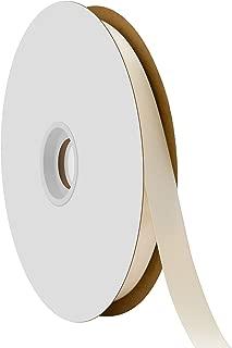 "product image for Offray Berwick 5/8"" Single Face Satin Ribbon, Ivory White, 100 Yds"