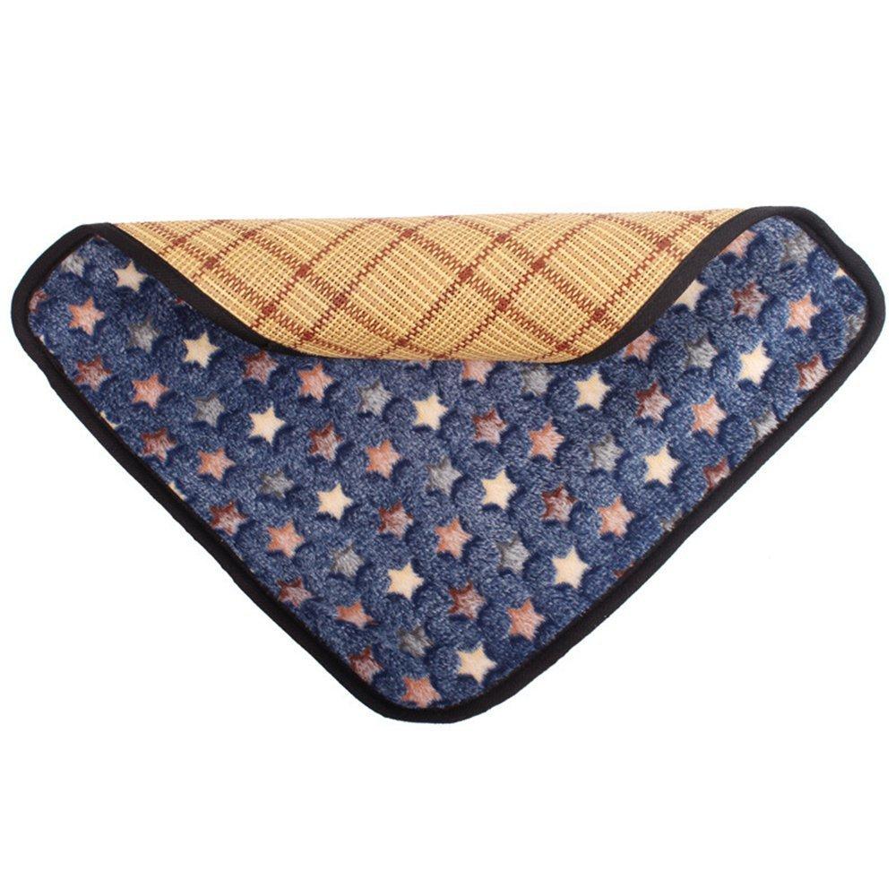 Sun Glower Coperta delle forniture dell'animale Tappetino in cotone per animali domestici Tappeto per tappeti per animali domestici a duplice uso Cuscino in bambù per l'estate e l'inverno (XL, blu scu