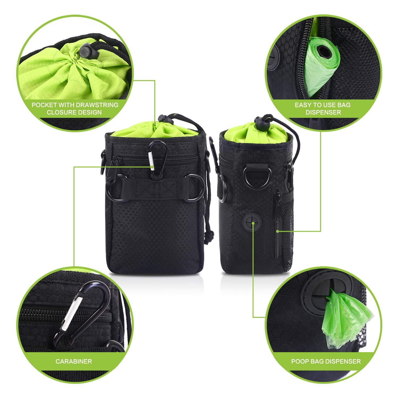 Ueetek Ri/ñonera para transportar accesorios de mascota recompensas e adiestramiento, bolsas para recoger excrementos