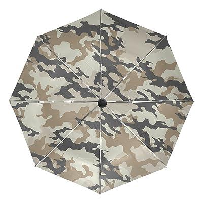 Anti-UV Windproof Fashionable Camouflage Compact Auto Open Close Travel Umbrella