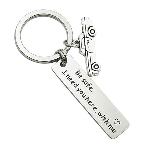 Amazon com: ZUOPIPI Drive Safe Keychain with Unicorn/Car
