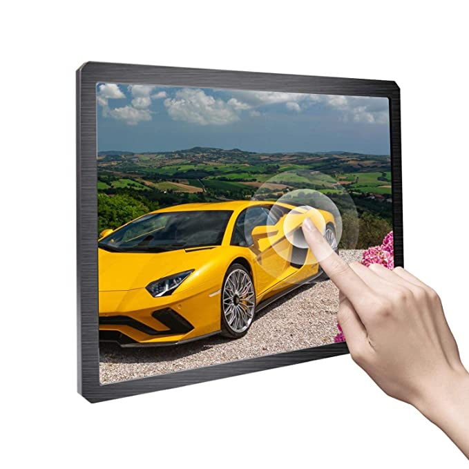 Portable Monitor 12 3 inch Touchscreen Monitor IPS Display Built-in Speaker  Resolution 1600X1200 Support HDMI/Micro USB/DC/DVI/VGA/Audio Input fit for