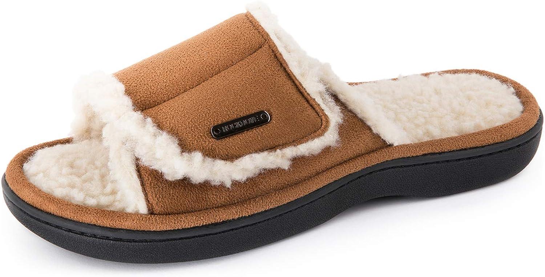 RockDove Women's Sierra Sandal Slipper with Memory Foam