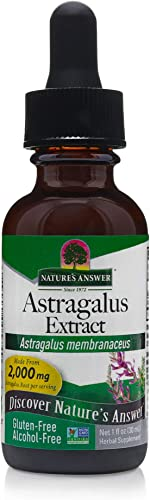 Nature s Answer Astragalus Root Promotes Overall Health Wellbeing Super Concentrated 2000mg Alcohol-Free, Gluten-Free, Kosher Certified No Preservatives 1oz