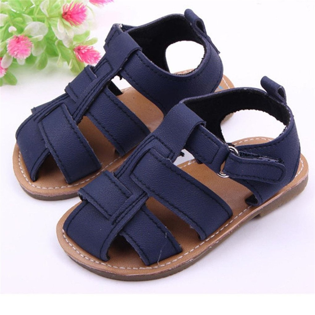 Academyus Infant Baby Boys Leather Rubber Sole Anti-Slip Summer Sandals