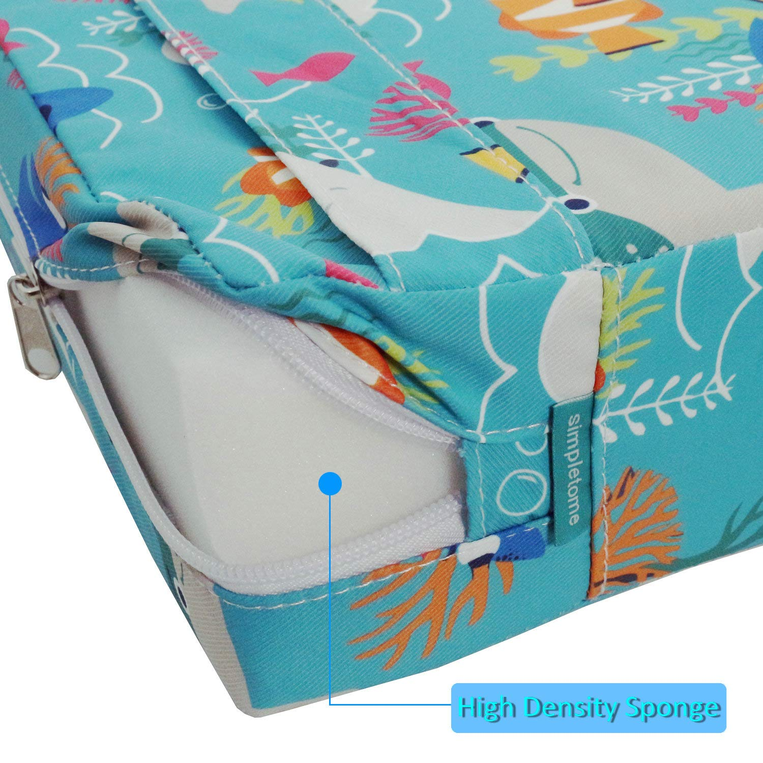 Sea World simpletome Chair Booster Seat Cushion Pad for Big Kids with 4 Safety Fixing Straps
