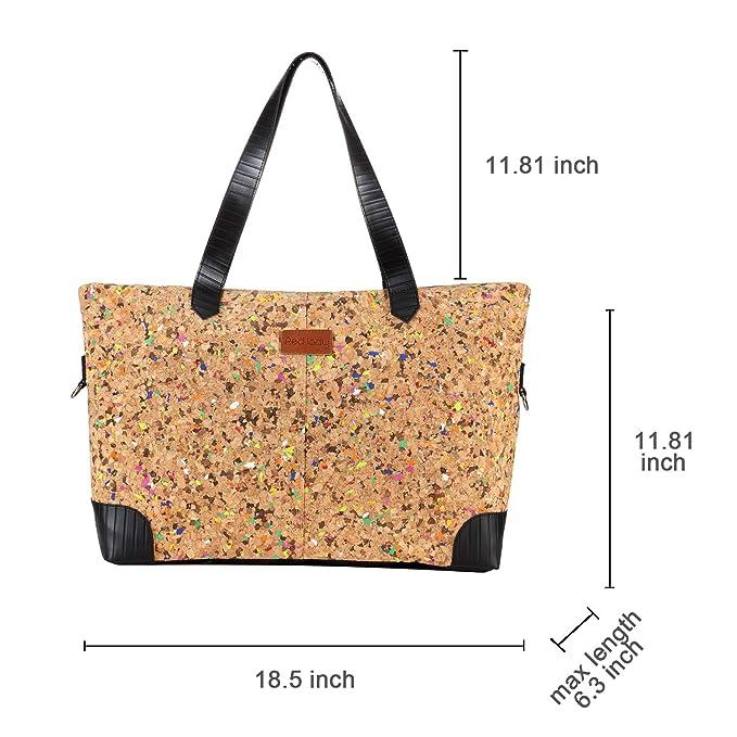 Amazon.com: Bolso de corcho rojo con cremallera, bolso de ...