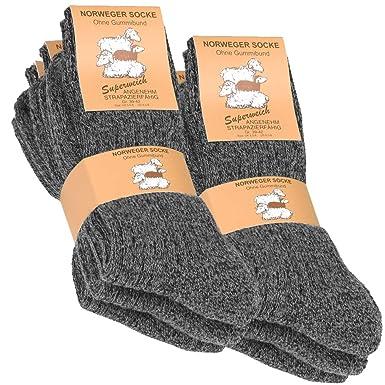 chaussures de séparation 5da38 0a6a9 VCA Lot de 6 paires de chaussettes norvégiennes - laine épaisse - anthracite
