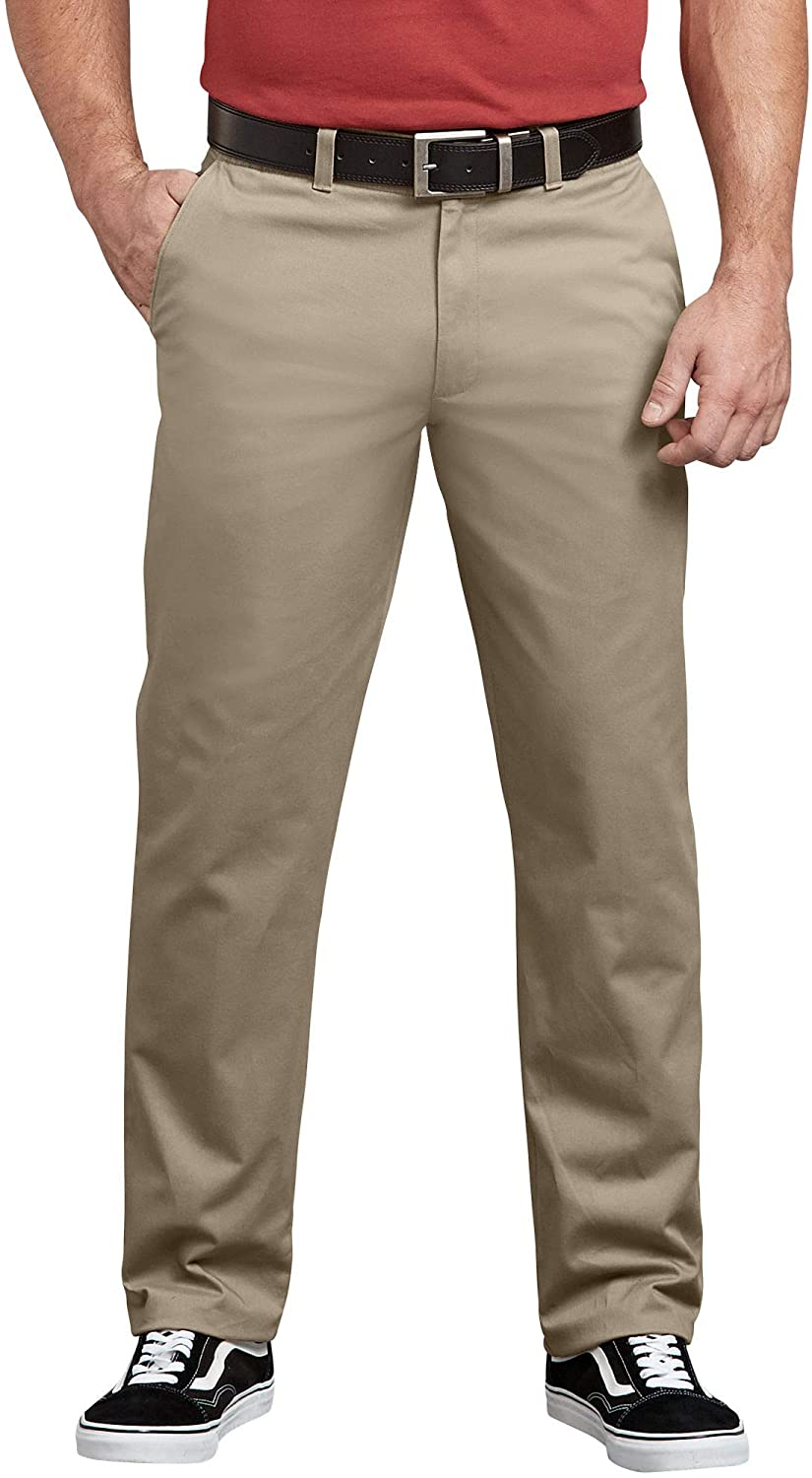 Dickies Mens Flex Active Waist Washed Chino Pant-Regular Taper Fit