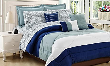 Beau Hotel New York Arizona Queen Comforter Set (10 Piece)