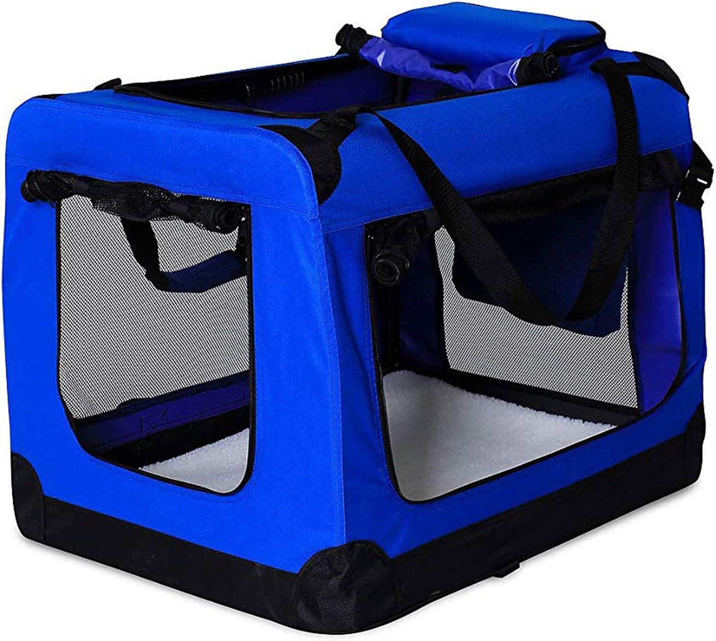 dibea TB10034 Bolsa de Transporte para Perros y Gatos, Azul, (XXL) 90x61x65 cm