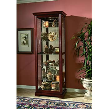 Pulaski Two Way Sliding Door Curio, 30 By 20 By 80 Inch, Victorian