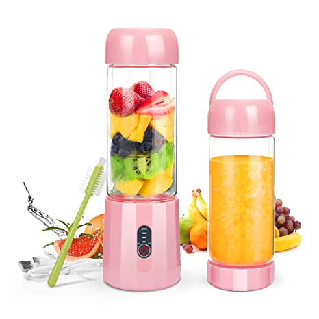 USB Rechargeable Portable Juicer Bottle Blender Fruit Juice Smoothie Maker 400ml Juicers & Presses