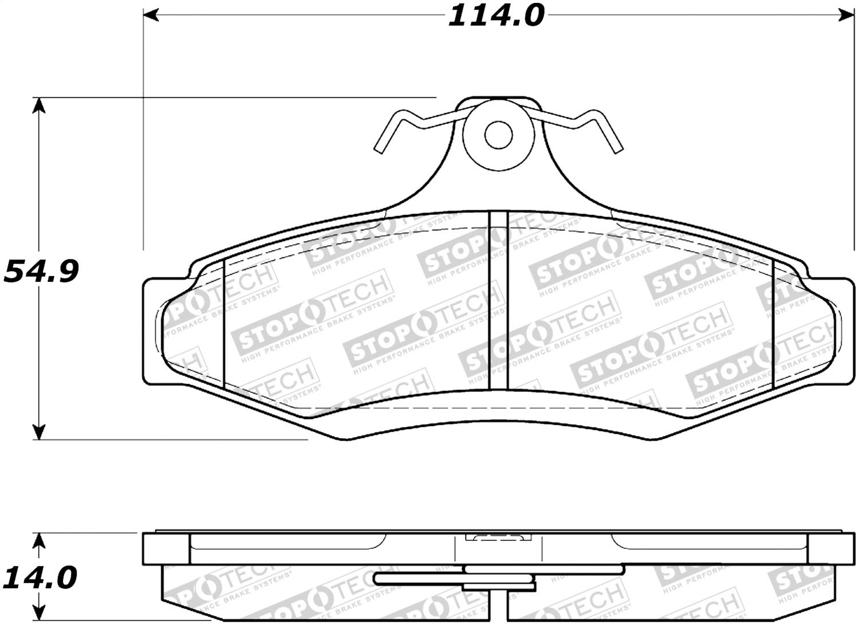 StopTech 308.07240 Street Brake Pads 4 Pack
