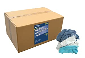 Pro-Clean Basics A99603 Recycled Colored Cloth Rags, 25 lb. Box
