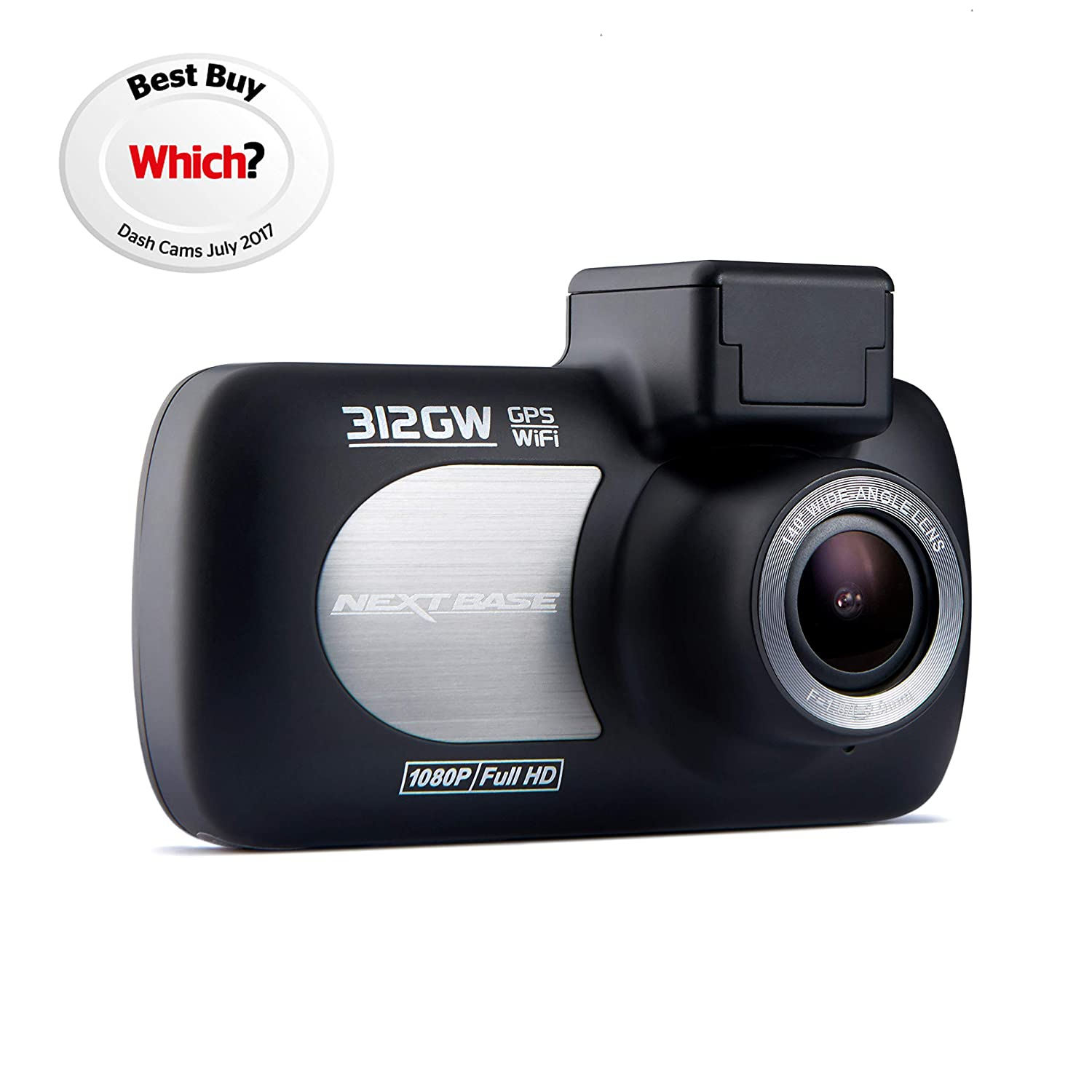 Nextbase 512GW 1440p QUAD HD In-Car Dash Cam and 512GWRC Rear Cam Front and Back Recording, with Wi-Fi, GPS, Anti-Glare Polarising filter - Black
