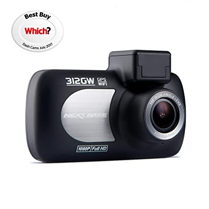 537c1df154 Nextbase 312GW - Full 1080p HD In-Car Dash Camera DVR - 140° Viewing Angle  - WiFi and GPS - Black  Amazon.co.uk  Electronics