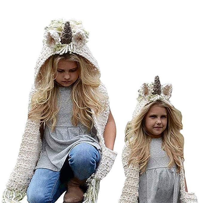 Formesy Bambino Maglia di Lana Berretti Cappelli Dinosauro Scialli Cappello  Autunno Sciarpa Protezione Cappello Unicorno Invernale 01300204b5b2