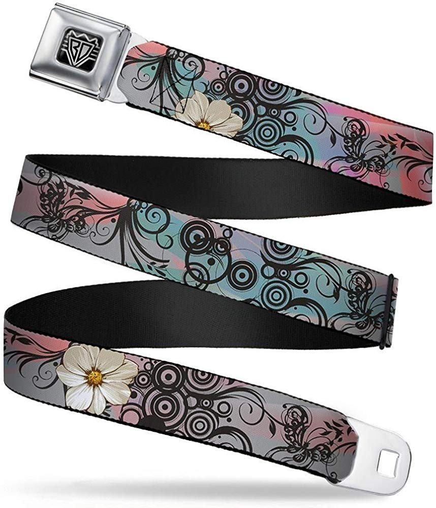 Buckle-Down Seatbelt Belt 1.0 Wide Galaxy Blues//Purples 20-36 Inches in Length