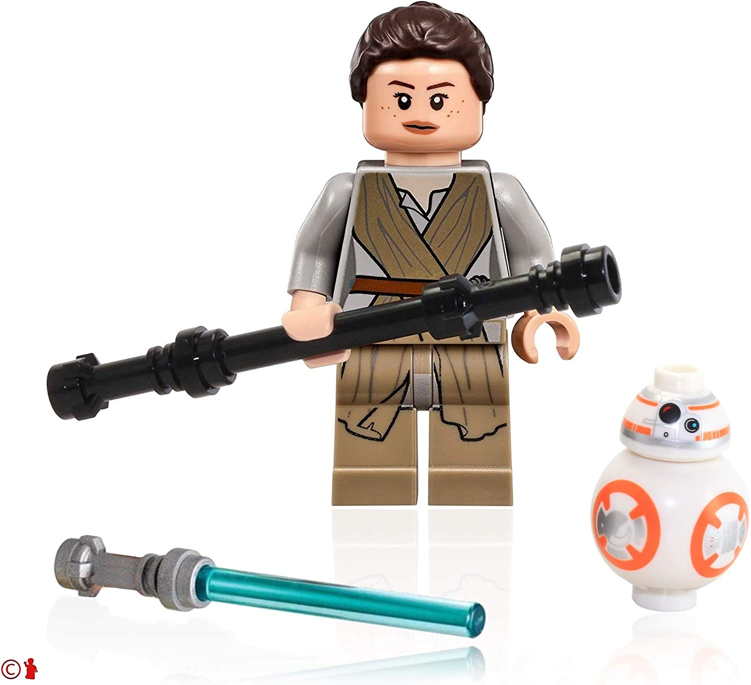 LEGO the Star Wars Rise of Skywalker Minifigure Combo - BB-8 Droid and Rey (with Black Staff)