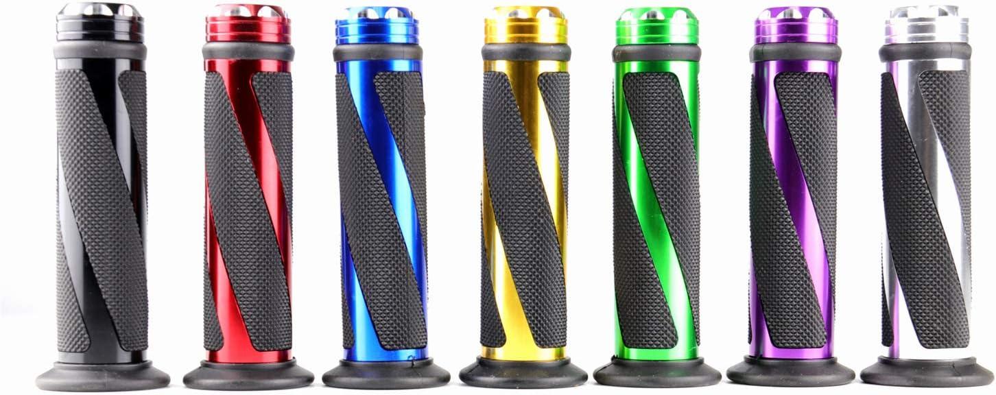 blu Manopole per moto mano pedale in gomma biker scooter manopole manubrio manubrio modificato acceleratore Grip Settle Handle Grips