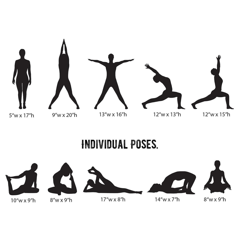 Stickerbrand 10 posturas de yoga calcomanía pegatina de ...
