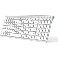 iClever BK10 Bluetooth Keyboard, Multi Device Keyboard Rechargeable Bluetooth 5.1 with Number Pad Ergonomic Design Full…
