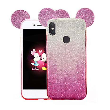 16fbfe086d9 GLOVER Gradient Glitter 2 in 1 Soft Case Back Cover for  Amazon.in   Electronics