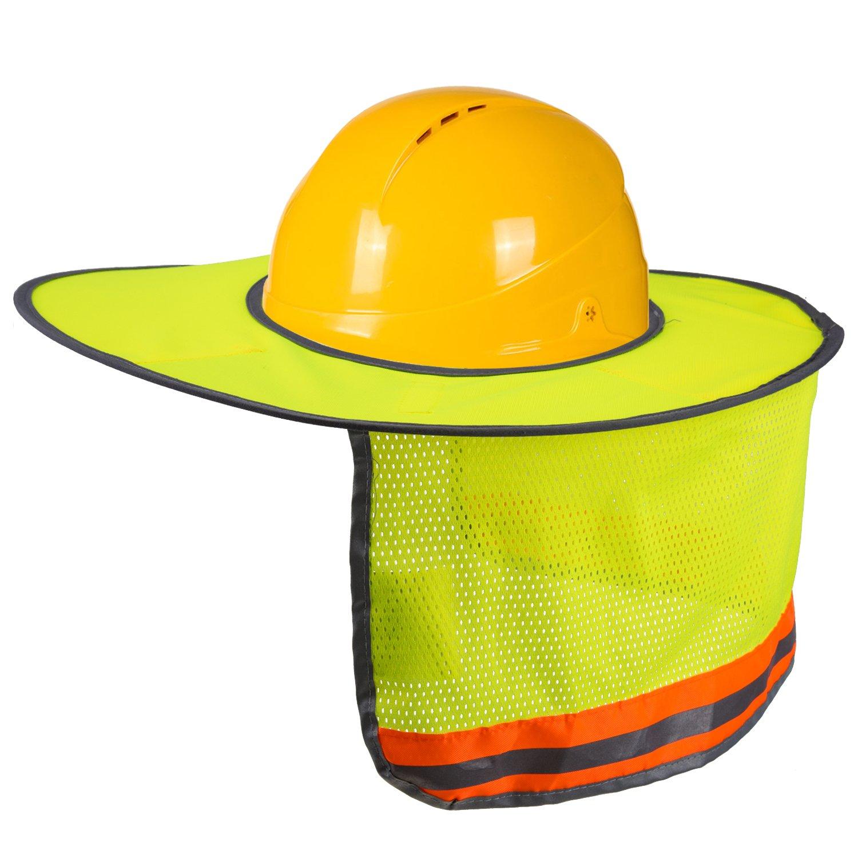 LUTER Hard Hat Sun Shade Neck Shield Sun Protection With Reflective Strip  and High Visable Mesh Design For Hardhats Helmet Construction(1 Pcs) - -  Amazon. ... d568fad9e0e0