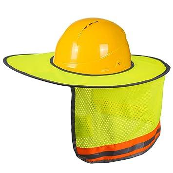 LUTER Sombrero de Protección Solar, Neck Shield Sombrilla con Tira Reflectante y Diseño de Malla