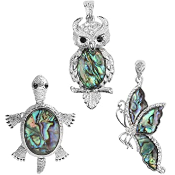 Amazon wholesale pack 3 pcs natural abalone shell pendants wholesale pack 3 pcs natural abalone shell pendants silver tone pendants bulk charms for jewelry aloadofball Choice Image